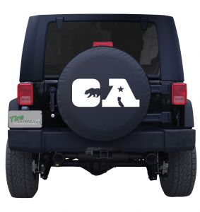 California CA Flag Jeep Tire Cover