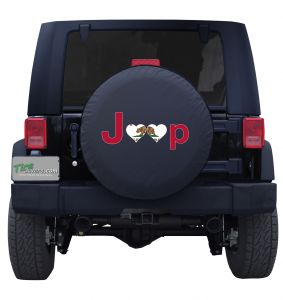 California Jeep Flag Tire Cover