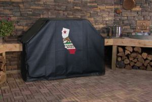 California State Outline Flag Logo Grill Cover