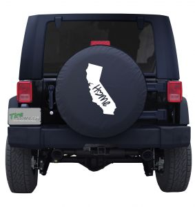 California State Home Outline Tire Cover