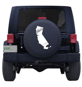California State Outline Flag Native Tire Cover