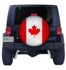 Canadian Flag Closeup Tire Cover Front