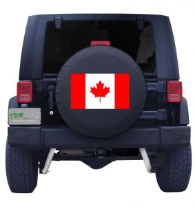 Canadian Flag Tire Cover Front