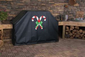 Candy Canes Custom Grill Cover