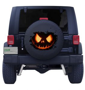 Halloween Pumpkin Spare Tire Cover Front