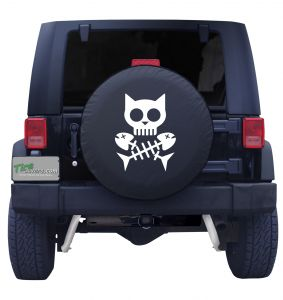 Cat Pirate Tire Cover