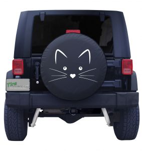 Cat Face Tire Cover