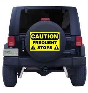 Caution Frequent Stops Tire Cover