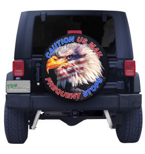 Caution Frequent Stops Eagle Tire Cover
