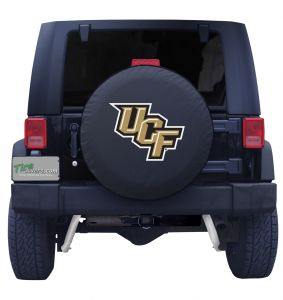 University of Central Florida Spare Tire Cover on Black Vinyl Front