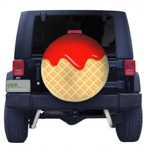 Cherry Waffle Tire Cover