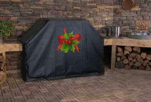 Christmas Holly Custom Grill Cover