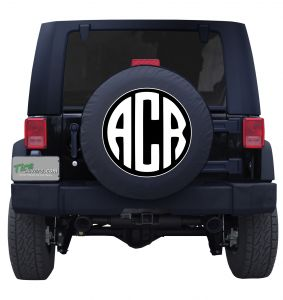 Circle Monogram Custom Tire Cover