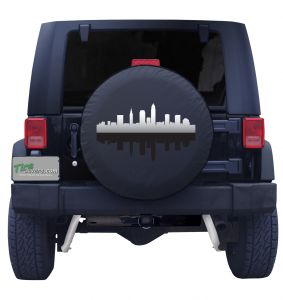 Cleveland Ohio Skyline Tire Cover