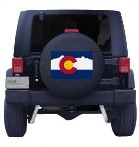 Colorado State Flag Black Vinyl Front View