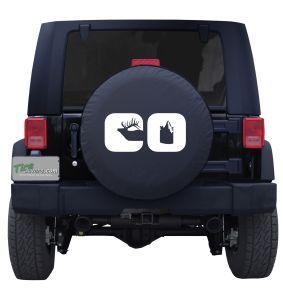 Colorado CO Word Flag Tire Cover