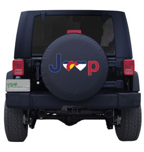 Colorado Jeep Flag Tire Cover