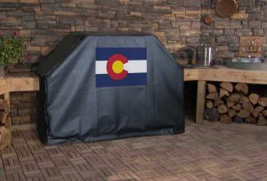 Colorado State Outline Flag Logo Grill Cover