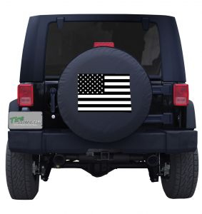Colorado State Outline Flag Tire Cover