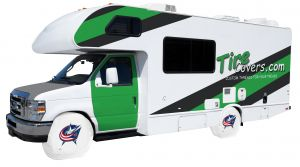 Columbus Blue Jackets Logo RV Tire Shade Cover