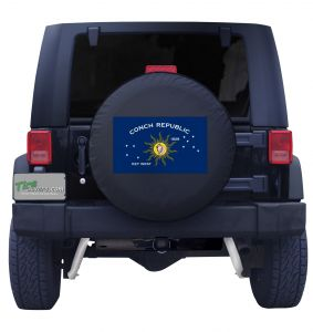 Conch Republic Flag Jeep Tire Cover