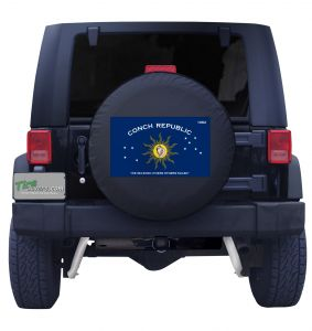 Conch Republic Florida Keys Flag Jeep Tire Cover