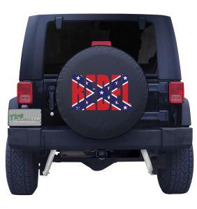 Confederate Flag Black Vinyl Front