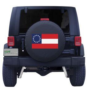 Confederate Flag Front Black Vinyl