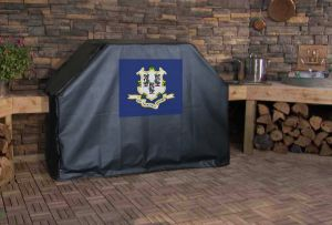 Connecticut State Flag Logo Grill Cover