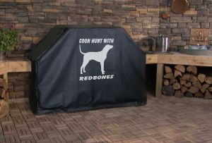Coon Hunt with Redbones Logo Grill Cover