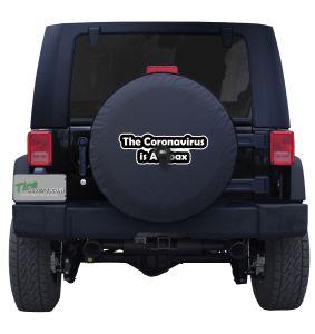 Jeep Coronavirus is a Hoax Sticker tire cover