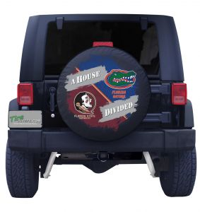 Florida Gators & Florida Seminoles House divided tire cover front