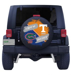 Florida Gators & Tennessee Volunteers House Divided Tire Cover