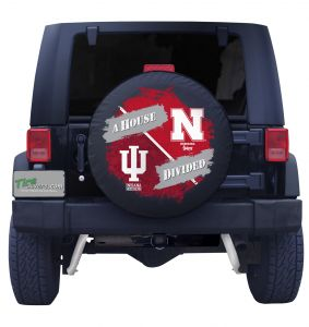 Nebraska Huskers & Indiana Hoosiers House Divided Tire Cover
