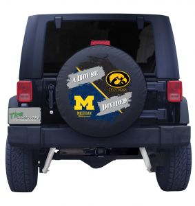 University of Michigan & Iowa Hawkeyes House Divided Tire Cover