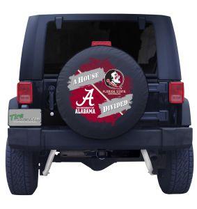 Alabama Crimson Tide & Florida State University House Divided Spare Tire Cover