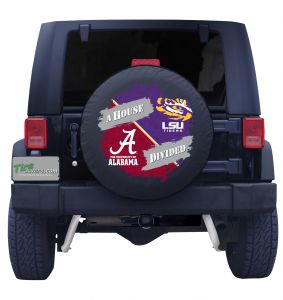 Alabama Crimson Tide & Louisiana State University House Divided Spare Tire Cover