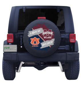 Auburn & MSU Bulldogs House Divided Spare Tire Cover