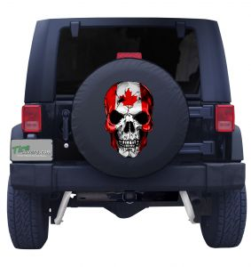 Canadian Skull Flag Tire Cover