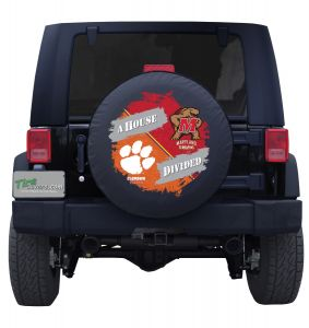 Clemson Tigers & Maryland Terrapins House Divided Tire Cover