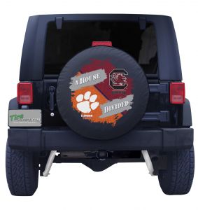 Clemson and South Carolina House Divided Tire Cover