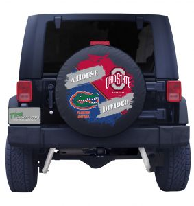 Florida Gators and Ohio State House Divided Tire Cover