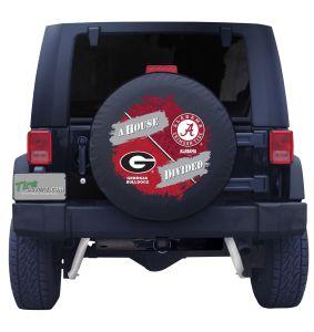 Georgia Bulldogs and Alabama Crimson Tide House Divided Tire Cover
