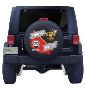Georgia Bulldog & Georgia Tech House Divided Tire Cover