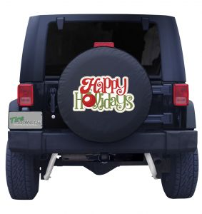 Happy Holidays Tire Cover Front