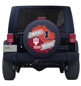 Illinois University & Indiana University House Divided Tire Cover