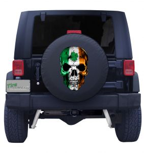 Irish Skull Flag Tire Cover