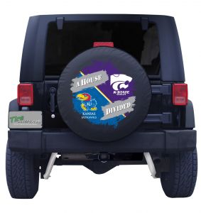 Kansas Jayhawks & Kansas State House Divided Tire Cover