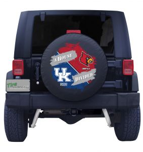 University of Kentucky and Louisville House Divided Tire Cover