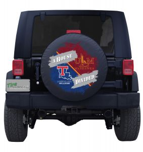 LSU & Mississippi State House Divided Tire Cover